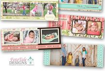 Spring/Easter/Summer Templates / Custom, Professional Photoshop Template Design - Cards, Albums, FaceBook Timeline Covers, Wallets and more! Fully layered .psd files for Photographers and Designers