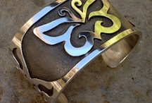 Silky Silver for Your Wrist / Handcrafted solid sterling silver cuffs. Traditional techniques + original totemic designs.  Enjoy.