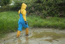Messy..wet... rainwear & clothes