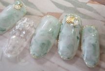 marmurki-ombre nails