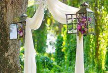 Backyard wedding ceremony ✨