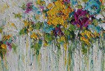 Flowery paintings