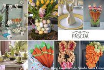 Decoração de Páscoa para Casa!!! / Veja + Inspirações e Dicas de decoração no blog!  www.construindominhacasaclean.com