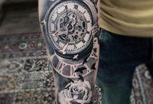 Tatuaje de reloj