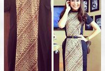 batik dress modern