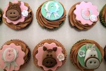 Paard cupcake