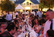 Project Dinner Table / Annual dinner series in Las Vegas uniting community through good food and conversation.  Check out the gorgeous centerpiece: one long continuous table seating 150 guests.