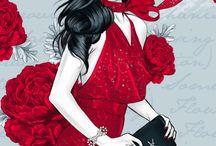 Rött och svart