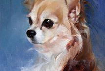 Inspiring chihuahua paintings / Paintings of chihuahuas I like