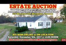 "12/9/17 ESTATE AUCTION: 2 BR Handyman Special on 1.59+/- Acres / Bidding has ended for this auction. Stay tuned to http://www.comasmontgomery.com/ for more upcoming auctions.   2 BR HOME ""Handyman Special"" ON 1.59+/- ACRES.  5520 Manchester Hwy, Murfreesboro, TN.  BID NOW ONLINE or ON LOCATION Saturday, December 9th, 2017 @ 12:00 NOON.  Across from Whitworth-Buchanan Middle School.   #realestate #auction #estate #sale #flipping #investment #roadfrontage #whitworth #buchanan #manchester #murfreesboro #tennessee #house #home"