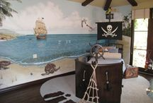Boy's Rooms / The ultimate Pirate Ship Boat bed for your little Captain!