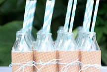Mini Milk Bottle Inspiration / Mini Milk Bottles can be used over and over again!