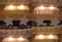 Waxinelicht steigerhout
