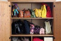 Çanta rafı/dolabı