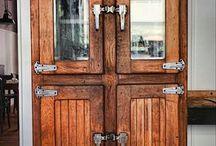 Wooden cold room door