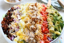 Crazy for Salads  / I am totally CRAZY for SALADS.  Love to look at this board and get great ideas for salads...What's better then a Great Salad? / by Alice Mayes-Ellison