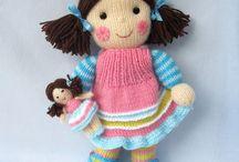Bonecas em trico