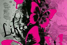 ピンク蝶々