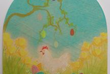 Seizoens ideeen lente en pasen. / maakbare ideeen van het voorjaar van verschillende materialen