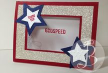 Patriotic, 4th of July & Military Cards / Handmade / handstamped card ideas made by Lisa Ann Bernard of Queen B Creations using  Stampin' Up! products