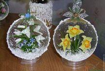 Шары  и стеклянные колпаки  с миниатюрами / Шары, стеклянные колпаки, миниатюра