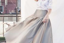 Silver Lining / A silver skirt and a gorgeous shoot