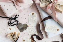gift wrap / pretty gift wrap / by Tamara Hellenbrand