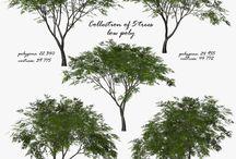 3D модели низко полигональных растений 3D models of low polygon plants