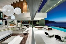 House Nettleton 199 Pentagon, Cape Town / A dramatic upmarket private residence overlooking Clifton. The building is a highly engineered reinforced concrete structure with extensive cantilevers achieved with post tensioned beams. Architecture by SAOTA