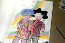 Dibujos / Trabalhos de meus sketchbooks