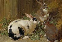 Bunny Painting Art / Custom Pet Portraits  tamforee.etsy.com
