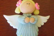 Anjos em biscuit