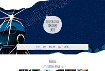 Designs de sites avec illustration