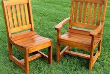 Chaise de table en bois