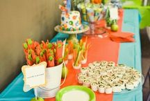 Baby shower / Blue orange
