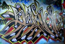 """Graffiti Art / Our favorite """"local abundant resource."""" By using fallen pieces of graffiti from different areas around city, we are about to do a little creative recycling, and also create something that includes a piece of Detroit."""