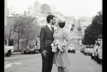 an elegant san francisco wedding with touches of red