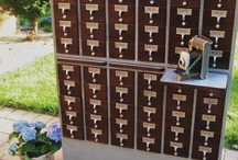 CARD CATALOGS & DRAWERS / by WEST FURNITURE REVIVAL
