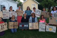 Pallet Sign Classes @ Home by Rica's Bowtique / Pallet sign classes by Rica's Bowtique
