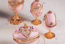 szkatułki z wydmuszek, Faberge
