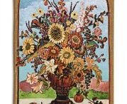Autumn Collage Contemporary Tapestry Wall Hanging