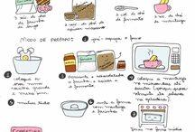 Receitas Ilustradas  / Receitas deliciosas apresentadas de uma maneira simples e divertida , dicas para uma alimentação saudável, cardápios e muito mais ...  / by Thaís Mennezes