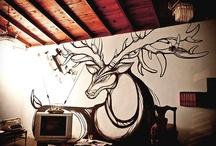Intervenciones / Pintura mural, a esto me dedico.