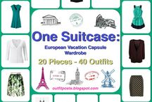 One Suitcase: European Vacation Capsule Wardrobe