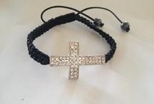 String Cross Bracelet