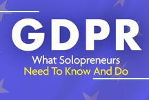 GDPR / What is GDPR (General Data Protection Regulation)? And what ARE all those emails you've been getting all about? Is the sky falling? Here's what solopreneurs who use Solo Build It! have to say about GDPR.