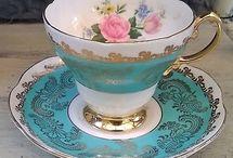 Tea cups - Tea pot- Tea set