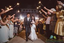 Lookout Pavilion Wedding at Charleston Harbor Resort / They exchanged vows at St Luke's Chapel, posed for photos in Hampton Park and danced the night away at the Lookout Pavilion of the Charleston Harbor Resort!