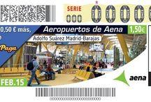 Los aeropuertos de Aena protagonistas del cupón de la ONCE / La ONCE dedica, durante más de un año, una colección de sus cupones a todos los aeropuertos y helipuertos de la red Aena con el Cupón Diario (sorteos de lunes a jueves). Son un total de 264 millones de cupones -cinco millones y medio por cada cupón-.  La colección comenzó el 26 de enero de 2015, dedicado al Aeropuerto de Barcelona-El Prat, y finalizará en abril de 2016.