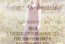 Modesty Honors Beauty